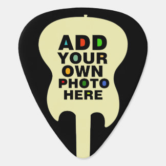 add photo (front and back) guitar pick