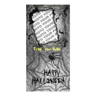 Add Photo Halloween Photo Card Bats Spider Vertica