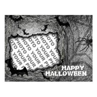 Add Photo Halloween Postcard Bat Spider Horizontal