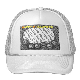 Add Photo Halloween Pumpkin Hat White