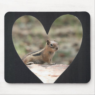 Add Photo Heart Frame(black) Mouse Pad
