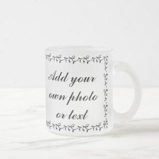 ADD PHOTO HERE-MUG FROSTED GLASS COFFEE MUG