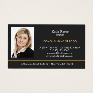 Real estate business cards zazzle add photo insert real estate professional accmission Image collections