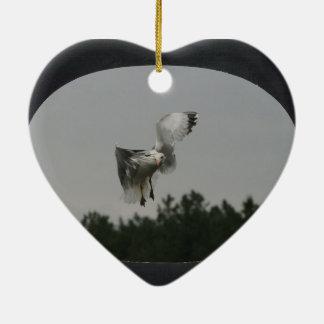 Add Photo Large Oval Frame(black) Ceramic Ornament