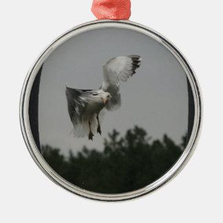 Add Photo Large Oval Frame(black) Metal Ornament