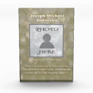 Add Photo | Memorial | Gold Bokeh Award