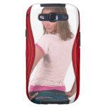 Add Photo Red Curvy Samsung Galaxy Case Galaxy SIII Covers