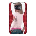 Add Photo Red Curvy Samsung Galaxy Case Galaxy S2 Cover