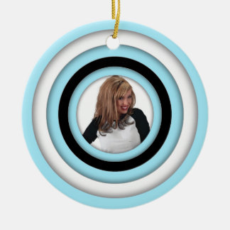 Add Photo Retro Blue Ornament