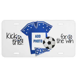 Add Photo Soccer  license plate