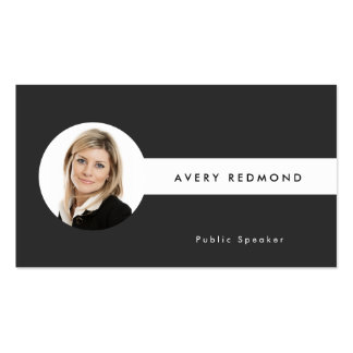 Add Photo Template Professionals Black and White Business Card