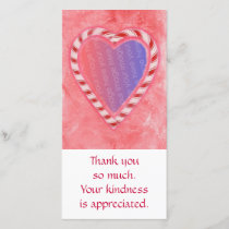 Add Photo thank you cards, Christmas candy heart