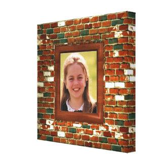 Add photo to Brick illusion  wrapped canvas print