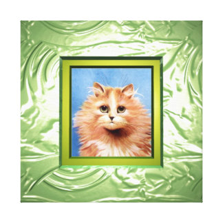 Add photo to Lime pudding illusion canvas wrapped Stretched Canvas Print