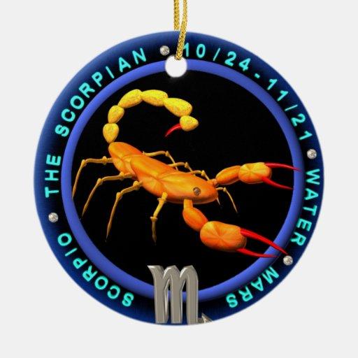 Add photo to Valxart  Scorpio zodiac ornament