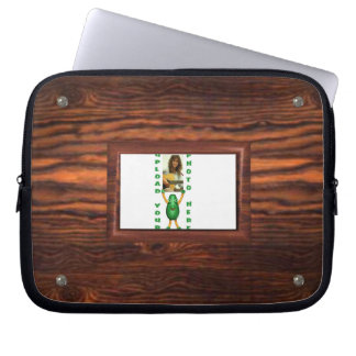 Add photo to wood border illusion laptop computer sleeves