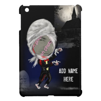 Add Photo Zombie Caricature iPad cover, Mens Gift