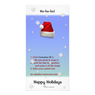 Add Santa's Hat to your photo (directions below) Photo Card