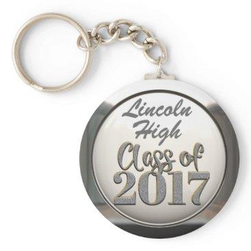 Beach Themed Add School Name Class Of 2017 Graduation Keychain