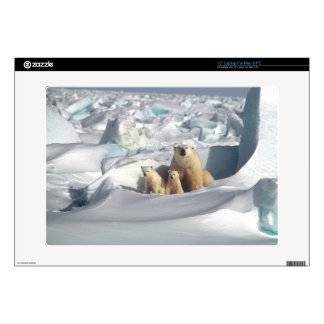 Add SLOGAN to Save Arctic Polar Bears Planet Ice Skin For Laptop