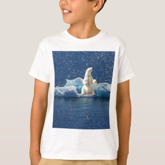 Add SLOGAN to Save Polar Bears Arctic Planet Ice T-Shirt