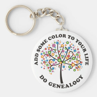 Add Some Color To Your Life Basic Round Button Keychain