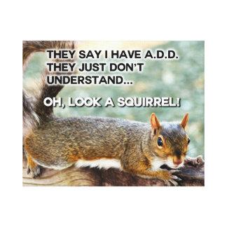 ADD Squirrel Photo Gallery Wrap Canvas