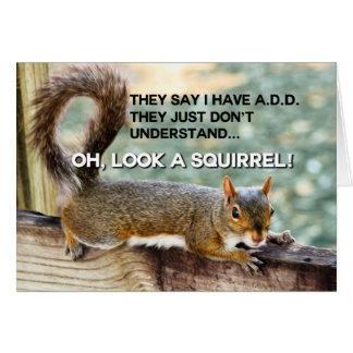 ADD Squirrel Photo Card