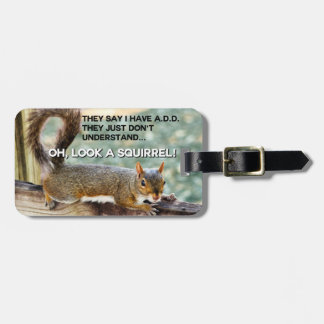 ADD Squirrel Photo Travel Bag Tags