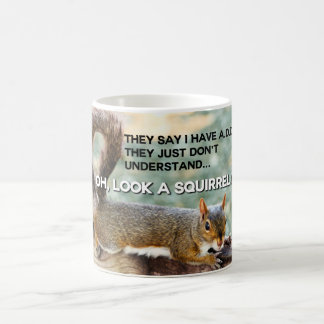 ADD Squirrel Photo Classic White Coffee Mug