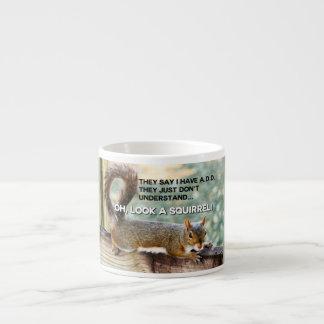 ADD Squirrel Photo 6 Oz Ceramic Espresso Cup