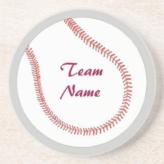Add Team Name Baseball Coasters