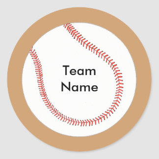 Add Team Name Baseball Stickers