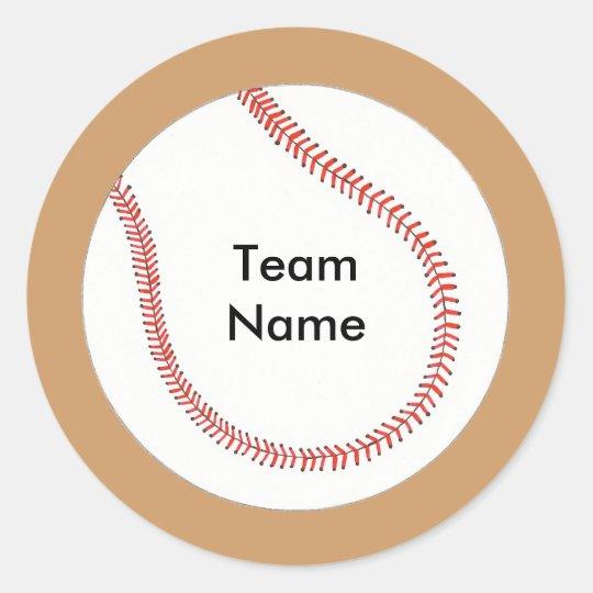 Add Team Name Baseball Stickers
