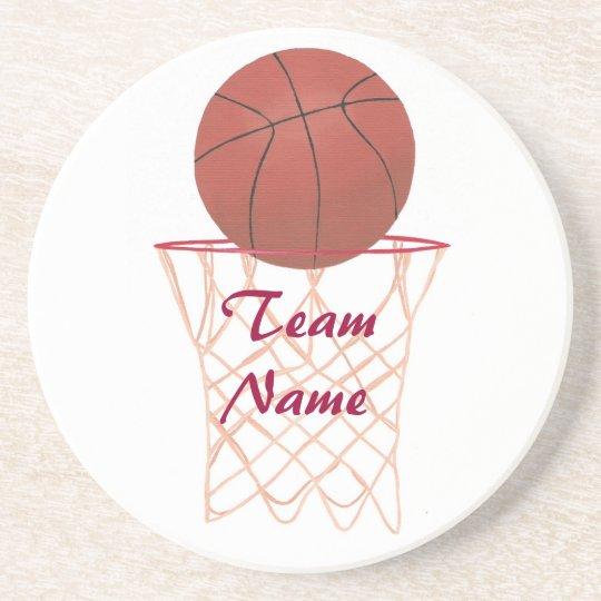 Add Team Name Basketball Coasters