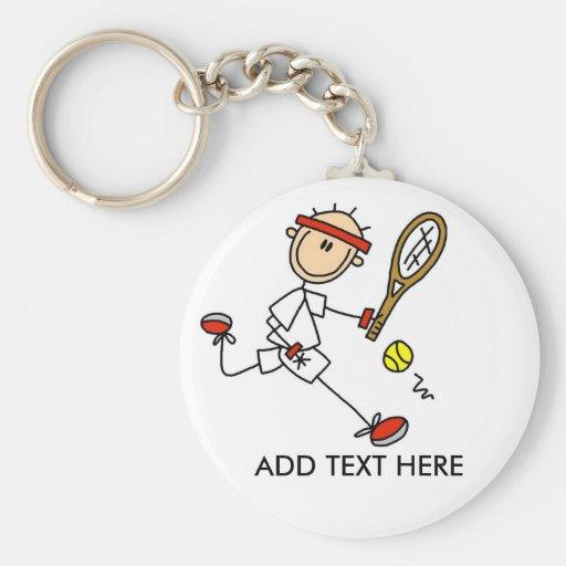 Add Text Customizable Tennis Keychain