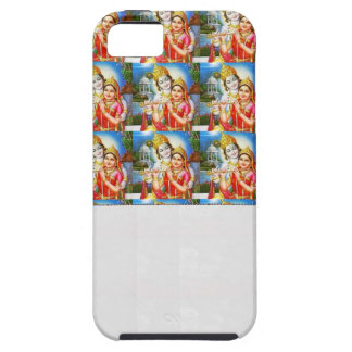 Add Text Image  : RADHA KRISHNA Crystal White Spac iPhone SE/5/5s Case