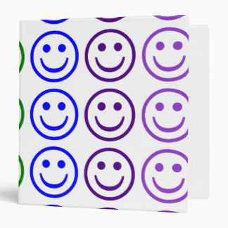 Add Text & Images Gifts: Rainbow Smiley Faces Binder