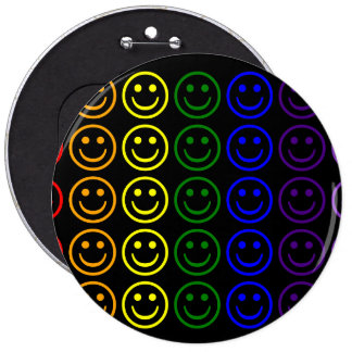 Add Text Images Gifts Rainbow Smiley Faces Pin