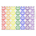 Add Text & Images Gifts: Rainbow Smiley Faces Greeting Card