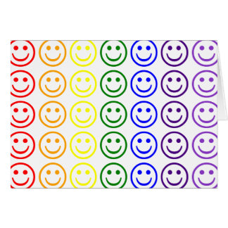 Add Text & Images Gifts: Rainbow Smiley Faces Card