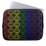 Add Text & Images Gifts: Rainbow Smiley Faces Computer Sleeve