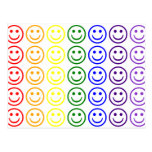 Add Text & Images Gifts: Rainbow Smiley Faces Postcards