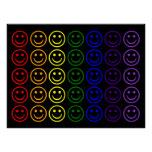 Add Text & Images Gifts: Rainbow Smiley Faces Poster