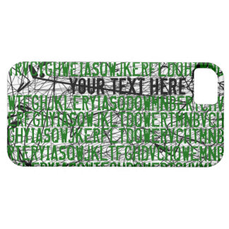 Add Text Letter Code Green iPhone 5 Case