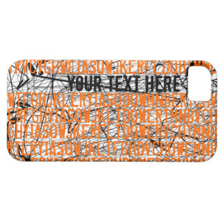 Add Text Letter Code Orange iPhone 5 Case