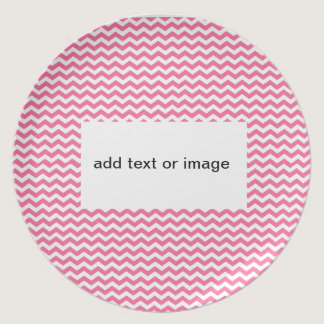 add text or image to this pink chevron plate