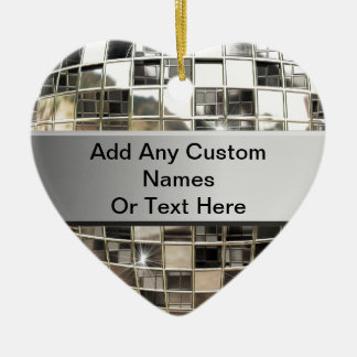 Add Text To Sparkling Silver Disco Ornament