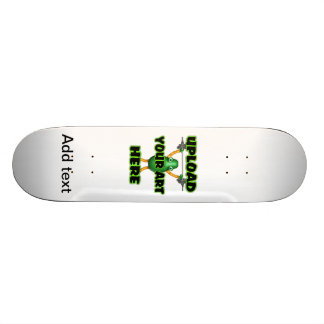 Add text to this cool leopard skateboard