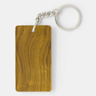 Add Text to Wood Background Keychain